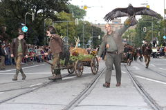 Παραδοσιακή παρέλαση κοστουμιών στο Μόναχο Βαυαρία Στοκ Εικόνες