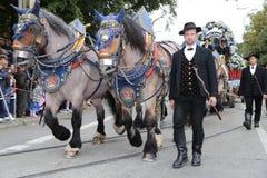 Παραδοσιακή παρέλαση κοστουμιών στο Μόναχο Βαυαρία Στοκ Εικόνα