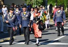 Παραδοσιακή παρέλαση στη Ζυρίχη Στοκ Εικόνα