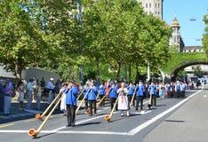 Παραδοσιακή παρέλαση στη Ζυρίχη Στοκ φωτογραφία με δικαίωμα ελεύθερης χρήσης