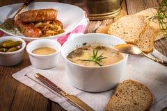 Παραδοσιακή πολωνική μαγιά σούπας στοκ εικόνες με δικαίωμα ελεύθερης χρήσης