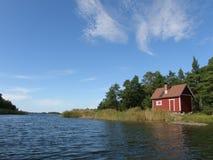 Παραδοσιακή σάουνα στην ακτή Στοκ εικόνες με δικαίωμα ελεύθερης χρήσης
