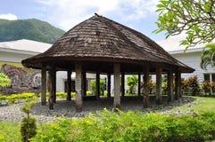 Παραδοσιακή σαμοανική καλύβα Φωτογραφία που λαμβάνεται σε Pago Pago, αμερικανική Σαμόα Στοκ Εικόνες