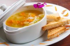 Παραδοσιακή σούπα λαχανικών Στοκ φωτογραφία με δικαίωμα ελεύθερης χρήσης
