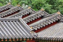 Παραδοσιακή στέγη αρχιτεκτονικής της Κορέας στοκ εικόνα με δικαίωμα ελεύθερης χρήσης