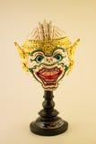 Παραδοσιακή ταϊλανδική γιγαντιαία μάσκα Khon Στοκ εικόνες με δικαίωμα ελεύθερης χρήσης