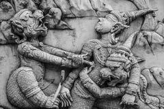 Παραδοσιακή ταϊλανδική τέχνη σχηματοποίησης ύφους Στοκ Εικόνες