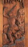 Παραδοσιακή ταϊλανδική χάραξη Στοκ Εικόνες