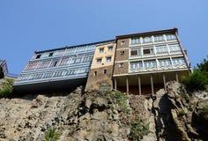Παραδοσιακή της Γεωργίας αρχιτεκτονική σε Abanotubani, Tbilisi, Γεωργία Στοκ φωτογραφίες με δικαίωμα ελεύθερης χρήσης