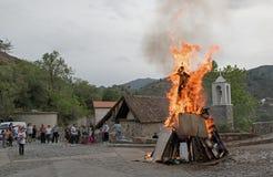 Παραδοσιακοί εορτασμοί Κύπρος Πάσχας στοκ εικόνα με δικαίωμα ελεύθερης χρήσης