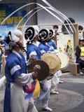 Παραδοσιακοί κορεατικοί χορευτές Στοκ Φωτογραφία