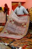 Παραδοσιακοί μαροκινοί τάπητες Στοκ φωτογραφίες με δικαίωμα ελεύθερης χρήσης