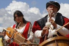 Παραδοσιακοί μουσικοί στοκ εικόνα