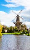Παραδοσιακός ανεμόμυλος στο Λάιντεν οι Κάτω Χώρες Στοκ φωτογραφία με δικαίωμα ελεύθερης χρήσης