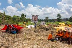 Παραδοσιακός ανταγωνισμός ικτίνων στην παραλία Sanur στο Μπαλί, Ινδονησία Στοκ φωτογραφία με δικαίωμα ελεύθερης χρήσης
