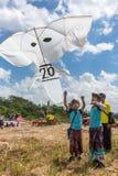 Παραδοσιακός ανταγωνισμός ικτίνων στην παραλία Sanur στο Μπαλί, Ινδονησία Στοκ Εικόνες