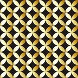 Παραδοσιακός αραβικός χρυσός σχεδίων στο μαύρο υπόβαθρο επίσης corel σύρετε το διάνυσμα απεικόνισης Στοκ Φωτογραφίες