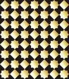Παραδοσιακός αραβικός χρυσός σχεδίων στο μαύρο υπόβαθρο επίσης corel σύρετε το διάνυσμα απεικόνισης Στοκ Εικόνες
