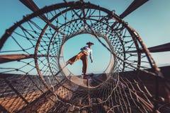 Παραδοσιακός βιρμανός ψαράς στη λίμνη το Μιανμάρ Inle Στοκ φωτογραφίες με δικαίωμα ελεύθερης χρήσης