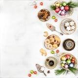 Παραδοσιακός γερμανικός καφές μπισκότων διακοσμήσεων τροφίμων Χριστουγέννων Στοκ εικόνες με δικαίωμα ελεύθερης χρήσης
