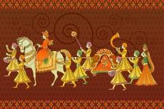 Παραδοσιακός ινδικός γάμος διανυσματική απεικόνιση