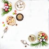 Παραδοσιακός καφές μπισκότων διακοσμήσεων τροφίμων Χριστουγέννων Στοκ Εικόνες