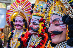 Παραδοσιακός καλλιτέχνης την ώρα της παράστασης Yakshagana στοκ εικόνες