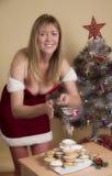 Παραδοσιακός κομματιάστε τις πίτες και τη ζάχαρη τήξης στα Χριστούγεννα Στοκ φωτογραφίες με δικαίωμα ελεύθερης χρήσης