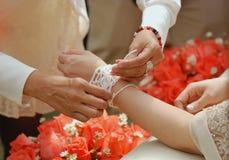 Παραδοσιακός ταϊλανδικός γάμος Στοκ Εικόνες