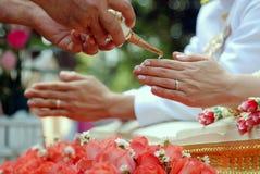 Παραδοσιακός ταϊλανδικός γάμος Στοκ φωτογραφία με δικαίωμα ελεύθερης χρήσης