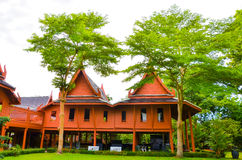 Παραδοσιακός ταϊλανδικός ξύλινος Στοκ εικόνα με δικαίωμα ελεύθερης χρήσης
