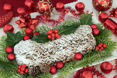 Παραδοσιακός το κέικ Χριστουγέννων Στοκ φωτογραφία με δικαίωμα ελεύθερης χρήσης