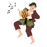 Παραδοσιακός χαρακτήρας μουσικής Στοκ Εικόνες