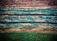 Παραδοσιακός χειροποίητος παλαιός χρωματισμένος τάπητας, ριγωτό σχέδιο Στοκ Εικόνα