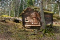 Παραδοσιακό δάσος καμπινών κούτσουρων Στοκ Εικόνα