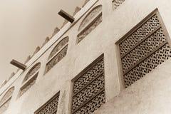 Παραδοσιακό αραβικό εξωτερικό σπιτιών Στοκ φωτογραφία με δικαίωμα ελεύθερης χρήσης