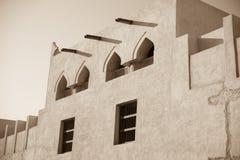 Παραδοσιακό αραβικό εξωτερικό σπιτιών Στοκ φωτογραφίες με δικαίωμα ελεύθερης χρήσης