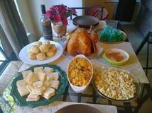 Παραδοσιακό λατινικό γεύμα ημέρας των ευχαριστιών Στοκ εικόνα με δικαίωμα ελεύθερης χρήσης