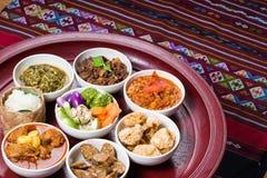 Παραδοσιακό βόρειο ταϊλανδικό σύνολο γευμάτων Στοκ εικόνα με δικαίωμα ελεύθερης χρήσης