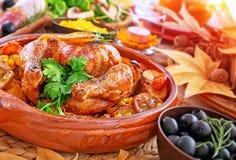 Παραδοσιακό γεύμα ημέρας των ευχαριστιών Στοκ Εικόνα