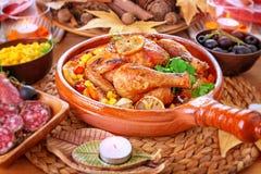 Παραδοσιακό γεύμα ημέρας των ευχαριστιών Στοκ Εικόνες