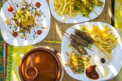 Παραδοσιακό γεύμα του Μαρακές στοκ φωτογραφίες