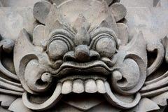 Παραδοσιακό γλυπτό του Μπαλί από το ναό, Ubud Μπαλί Στοκ εικόνα με δικαίωμα ελεύθερης χρήσης
