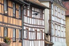 Παραδοσιακό εφοδιασμένο με ξύλα σπίτι στη λεπτοκαμωμένη Γαλλία, Στρασβούργο, FR Στοκ εικόνα με δικαίωμα ελεύθερης χρήσης