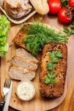 Παραδοσιακό εύγευστο πατέ κρέατος με τα λαχανικά Στοκ Εικόνα