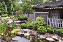 Παραδοσιακό ιαπωνικό σπίτι τσαγιού Στοκ εικόνα με δικαίωμα ελεύθερης χρήσης