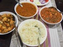 Παραδοσιακό ινδικό γεύμα Στοκ εικόνα με δικαίωμα ελεύθερης χρήσης