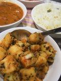 Παραδοσιακό ινδικό γεύμα Στοκ Φωτογραφία