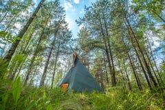 Παραδοσιακό ινδικό σπίτι tipi (teepee) Στοκ εικόνα με δικαίωμα ελεύθερης χρήσης