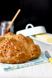 Παραδοσιακό ιρλανδικό καφετί ψωμί σόδας στοκ εικόνα